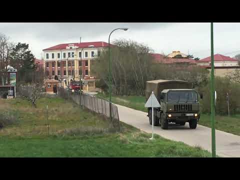 El Ejército colabora en la desinfección de la cárcel de Burgos