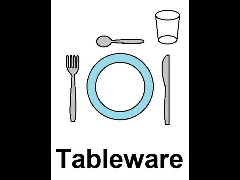 Learn English - Lesson #39: Tableware - Singular and Plural, Pronunciation