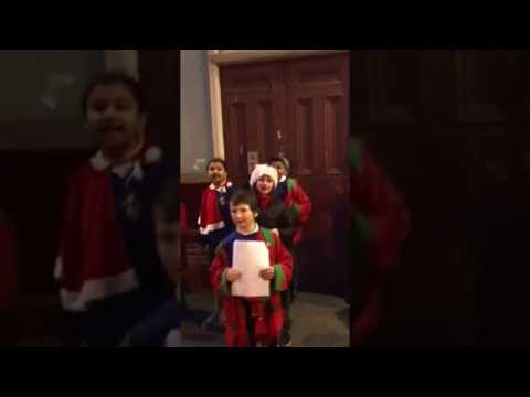 Lumpy Hill Adventure Playground Children Singing at Christmas