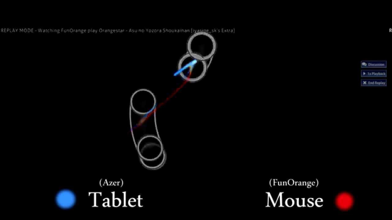 osu! Mouse vs  Tablet Movement Comparison