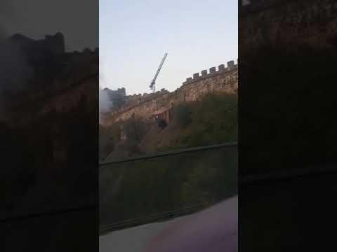 Incendio en la ladera del Castillo de Ponferrada