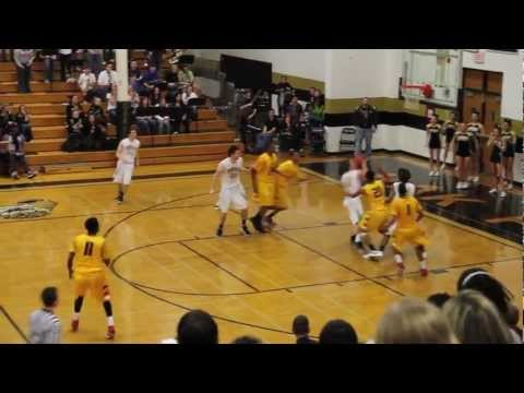 Oak Forest Basketball: Last second shot by Tom Zale wins it for Bengals on 02-17-12