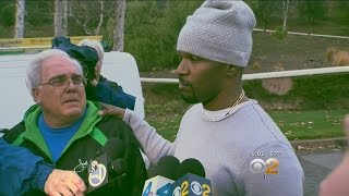 Jamie Foxx Saves Driver From Burning Truck Outside His Home