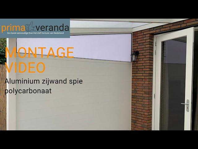 Montageinstructie Aluminium Zijwand Spie Polycarbonaat Prima Veranda