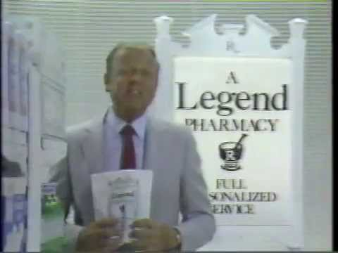 Dick Van Patten 1985 Legend Pharmacy Commercial