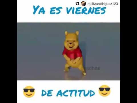 Winnie Pooh bailando el Kulikitaka ti