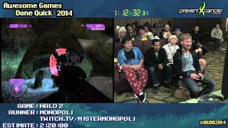 Halo 2 :: SPEED RUN (2:02:16) (Legendary) [XB360] Live by Monopoli #AGDQ 2014