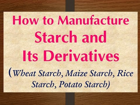 How to Manufacture Starch and Its Derivatives (Maize Starch, Rice Starch, Potato Starch)