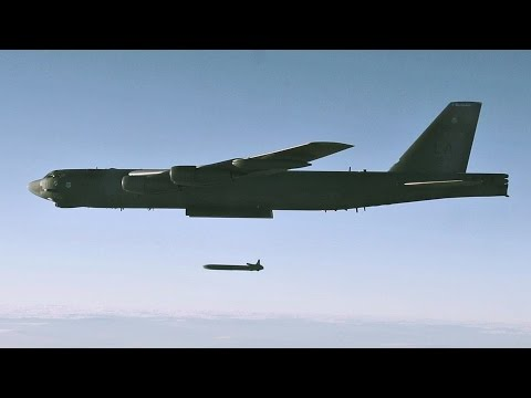 B-52 Launching AGM-86B Air-Launched Cruise Missile That Can Penetrate Deep Into Enemy Defense
