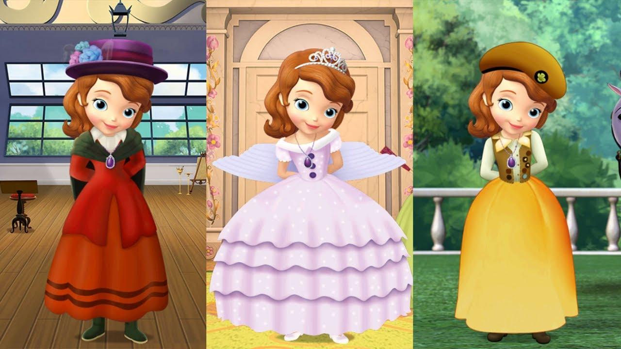 Princesita Sofia Atuendos Reales De Sofia Disney Junior Play Youtube