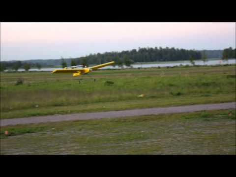 RC - Airflow test with windstrips and winglets