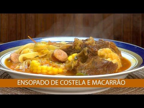 ENSOPADO DE COSTELA E MACARRÃO E CONTRA FILE COM GELÉIA DE PIMENTA