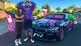 I SURPRISED THEM WITH A NEW CAR!!! (WEDDING GIFT)