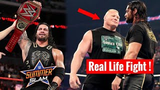 Rollins Vs Lesnar Real Life HEAT ! Roman Coming For Universal Title ? WWE Summerslam 2018 !