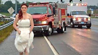 Paramedic bride in wedding dress goes viral - Sarah Ray
