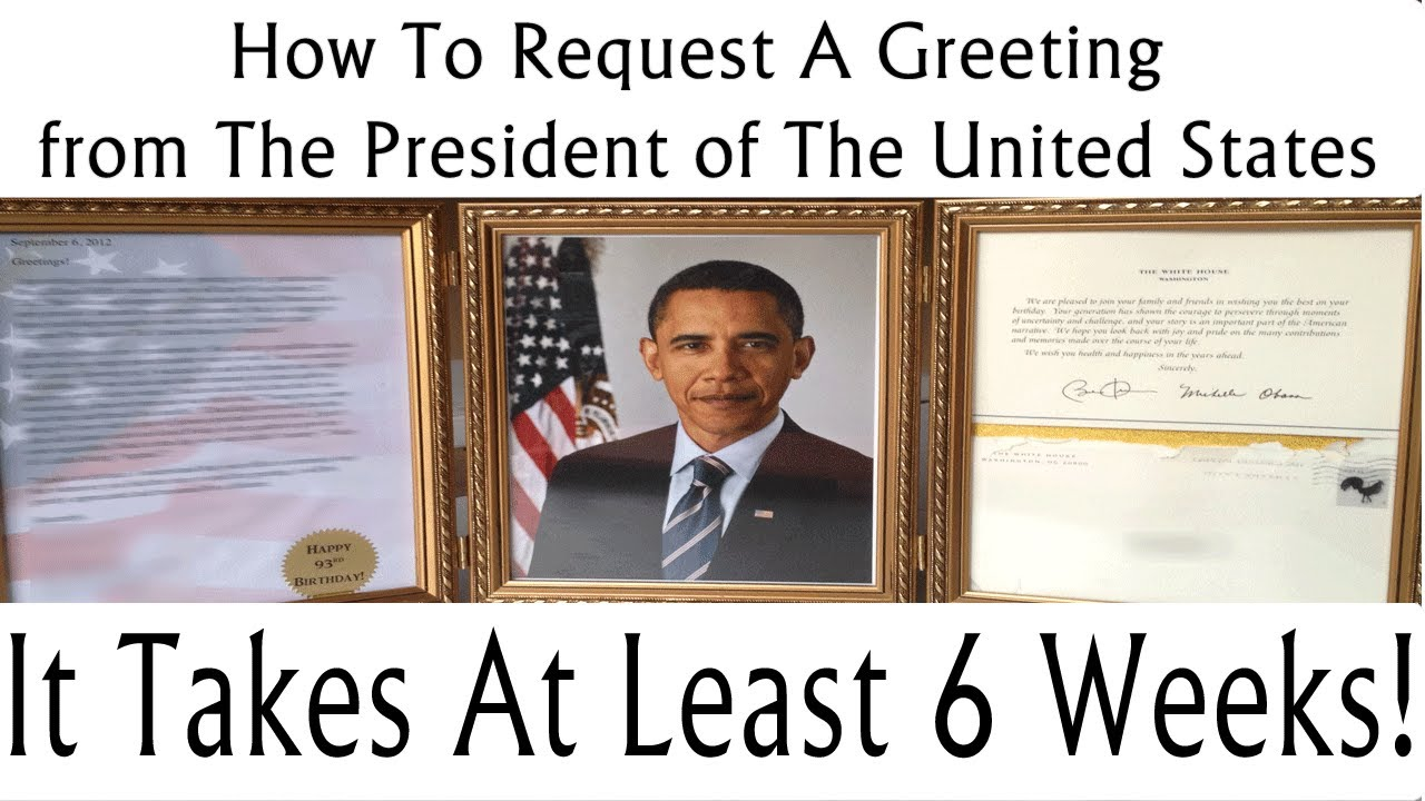 How To Request A Greeting From The POTUS Barack OBAMA – Barack Obama Birthday Card