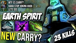 WTF Mid Earth Spirit Carry Build Amazing Plays - Destroy Tinker From the Game 23Kills by Nine Dota 2