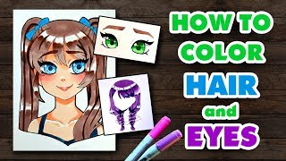 ☆ HOW TO COLOR || HAIR and EYES! || Easy Tutorial ☆