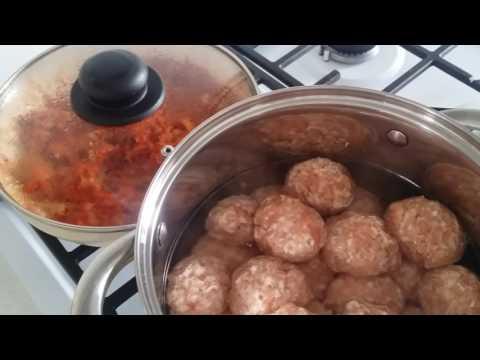 Тефтели с рисом, пошаговые рецепты приготовления