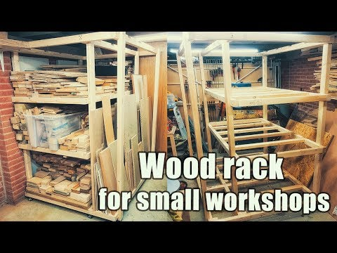 Wood rack - mobile solution for small workshops on the budget
