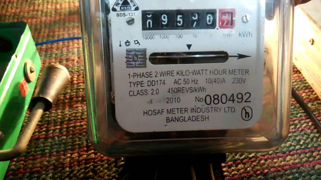How To Connection Single phase KWH Meter , - YouTube