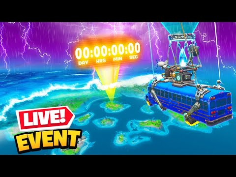 *LIVE* Fortnite FLOODED MAP EVENT! (DOOMSDAY FULL EVENT)