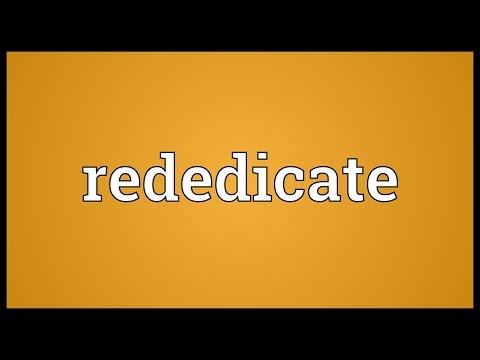 Header of rededicate