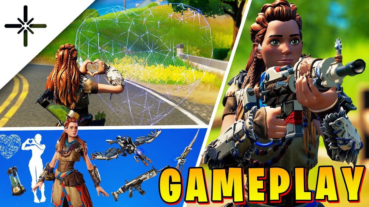 ALOY Fortnite Gameplay (Full Horizon: Zero Dawn Skin Set)
