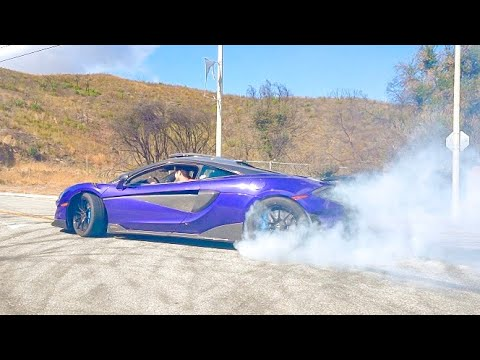 800HP MCLAREN DESTROYS TIRES!