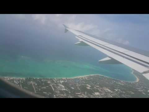 Turks and Caicos view from Airplane