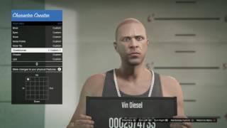 -GTA 5 Online-[How to make your character look like Vin Diesel]