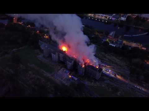 St Kevin's Cork on Fire - Drone Footage