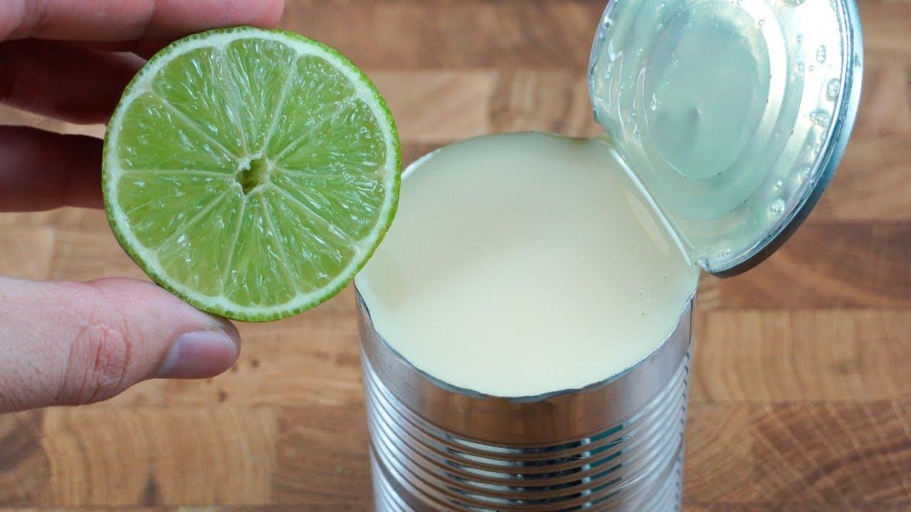 ¡Mezcla leche condensada con limón y te sorprenderá el resultado!