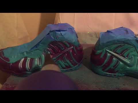 Nike Foamposite Pro Custom Crown Jewel/South Beach Thermal Color Change