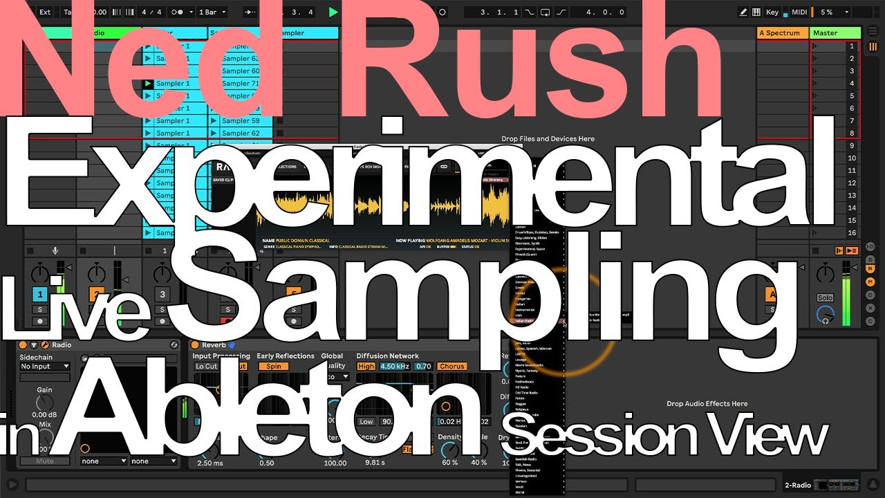 Experimental Live Sampling in Ableton Session View = Ned Rush