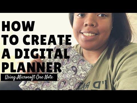 HOW TO CREATE A DIGITAL PLANNER using Microsoft One Note | Renae's Corner