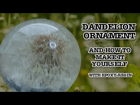 Resin Dandelion Paperweight Ball CRYSTAL CLEAR! - DIY - how to make it yourself tutorial.