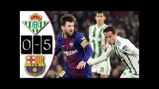 REAL BETIS vs FC BARCELONE :Liga Santander 2018 buts et Résumé du match