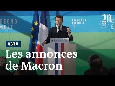 Discours de Macron : les annonces sur la transition énergétique