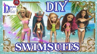 How to make doll SWIMSUIT / BIKINI out of balloons. Easy DIY. Doll crafts. Summer DIY for dolls