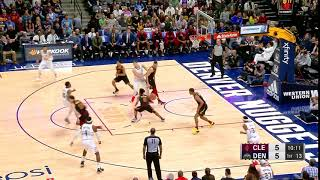 1st quarter one box video denver nuggets vs cleveland cavaliers