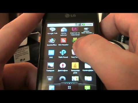 Обзор LG GT540 Optimus