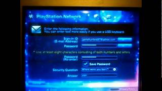 How to sign up for Playstation Network (Will Work)