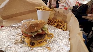 "First review of ""Five Guys"" at Disney Village"