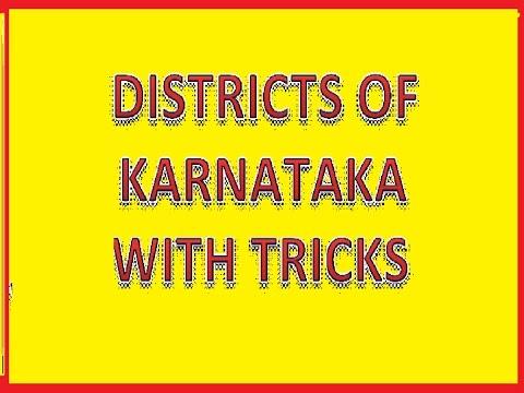 DISTRICTS OF KARNATAKA WITH TRICKS @ MAHALAKSHMI ACADEMY