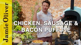 Chicken, Sausage &amp Bacon Puff Pie  Jamie Oliver
