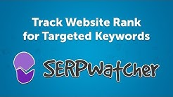Track Keyword Position in Google | Website Ranking Checker - SERPWatcher