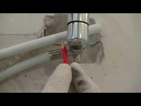 Покупка и установка водяного полотенцесушителя на  металлопластиковые трубы