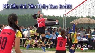 Giải Bóng chuyền nữ Tỉnh_ 2021 Đội Yên Thủy Gặp Đội Kim Bôi