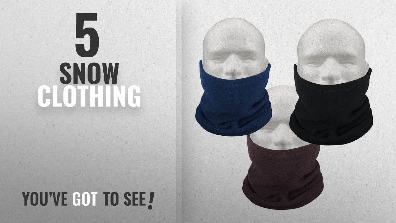 e042d882f Top 10 Snow Clothing [2018]: Tinxs Unisex Polar Fleece Neck Warmer Thermal  Snood Scarf Hat Ski Wear